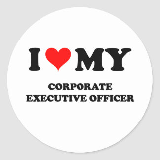 I Love My Corporate Executive Officer Stickers