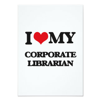 I love my Corporate Librarian Custom Invitation