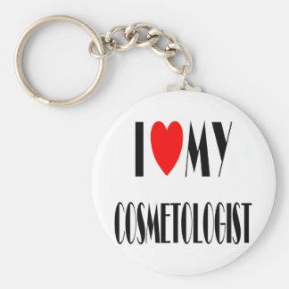 I love my Cosmotologist Basic Round Button Keychain