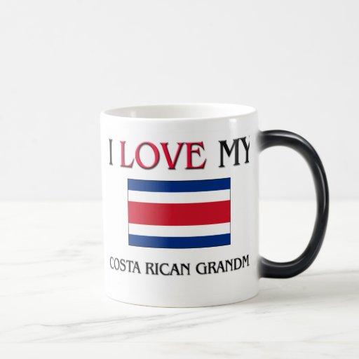 I Love My Costa Rican Grandma 11 Oz Magic Heat Color-Changing Coffee Mug
