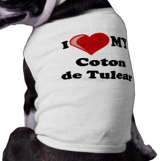I Love My Coton De Tulear Dog Dog Clothes