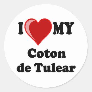 I Love My Coton De Tulear Dog Classic Round Sticker