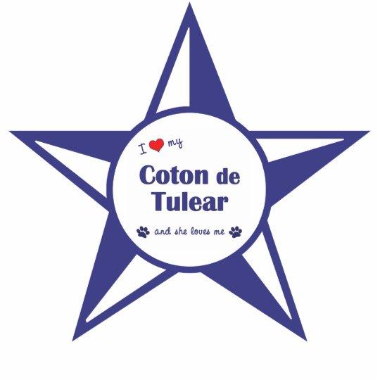I Love My Coton de Tulear (Female Dog) Statuette