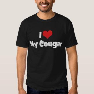 I Love My Cougar Dark T-Shirt
