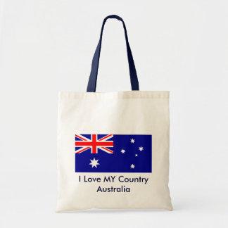 I Love MY Country Australia Flag Template Tote Bag