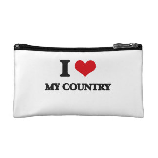 I love My Country Makeup Bags