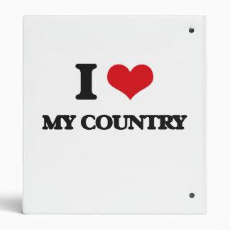 I love My Country Vinyl Binders