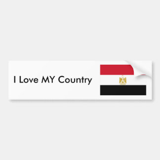 I Love MY Country Egypt Flag The MUSEUM Zazzle Bumper Sticker