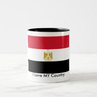 I Love MY Country Egypt Flag The MUSEUM Zazzle Two-Tone Coffee Mug