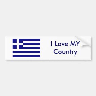 I Love MY Country Greece Flag The MUSEUM Zazzle Bumper Sticker