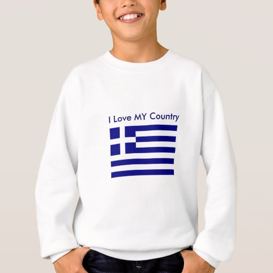 I Love MY Country Greece Flag The MUSEUM Zazzle Sweatshirt