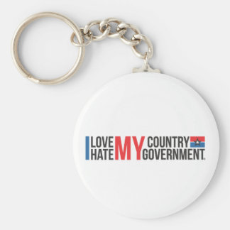 I love MY COUNTRY hate MY GOVERNMENT Keychain
