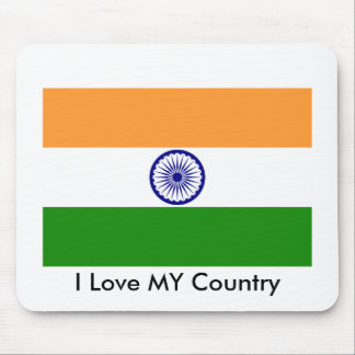 I Love MY Country India Mouse Pad
