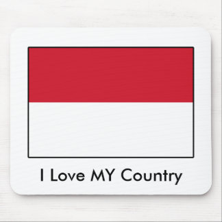I Love MY Country Indonesia Flag Mouse Pad
