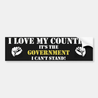 i love my country it the government bumper sticker