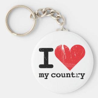 I love my country Keychain