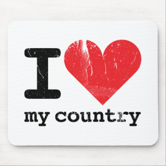 I love my country Mousepad