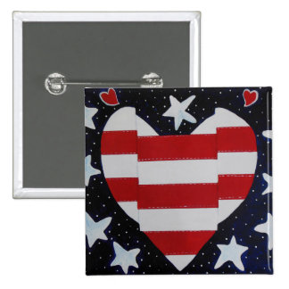 I love my Country Pinback Button