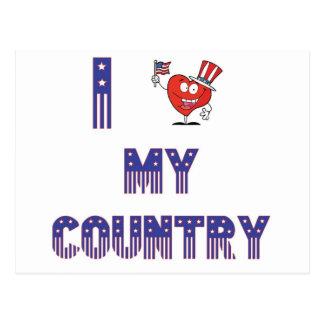 I LOVE MY COUNTRY POSTCARD