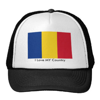 I Love MY Country Romania Flag The MUSEUM Zazzle Trucker Hat