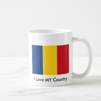 I Love MY Country Romania Flag The MUSEUM Zazzle Coffee Mugs