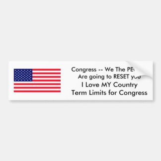 I Love MY Country Term Limits for Congress Bumper Sticker