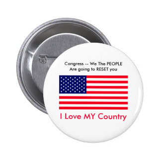 I Love MY Country Term Limits for Congress Button