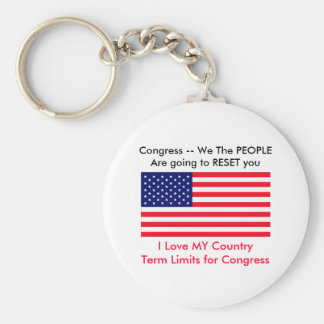 I Love MY Country Term Limits for Congress Keychains