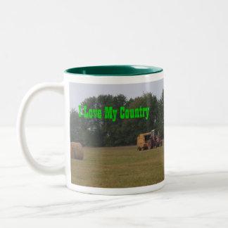 I Love My Country! Two-Tone Coffee Mug
