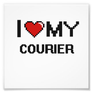 I love my Courier Photo Print