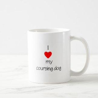 I Love My Coursing Dog Mug