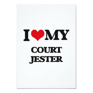 I love my Court Jester 3.5x5 Paper Invitation Card