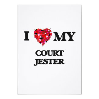 I love my Court Jester 5x7 Paper Invitation Card