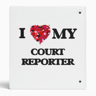 I love my Court Reporter 3 Ring Binders