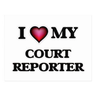 I love my Court Reporter Postcard