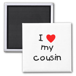 I Love My Cousin 2 Inch Square Magnet