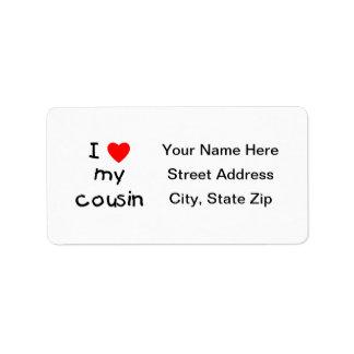 I Love My Cousin Label