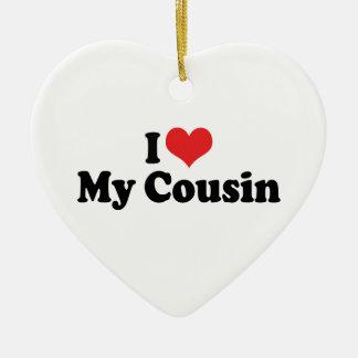 I Love My Cousin Ornament