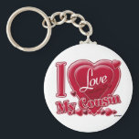 """I Love My Cousin red - heart Keychain<br><div class=""""desc"""">I Love My Cousin red - heart</div>"""