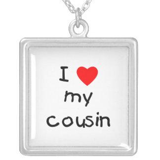 I Love My Cousin Square Pendant Necklace