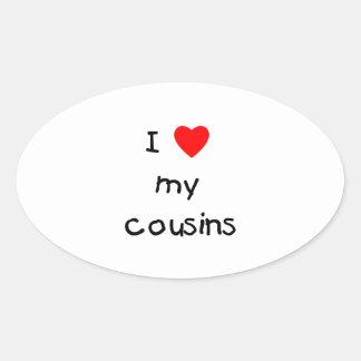 I Love My Cousins Oval Sticker