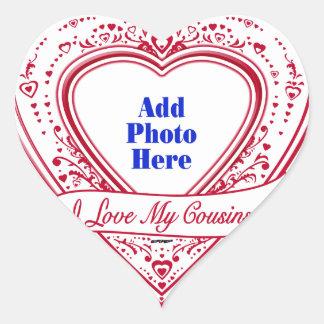 I Love My Cousins! Photo Red Hearts Heart Sticker