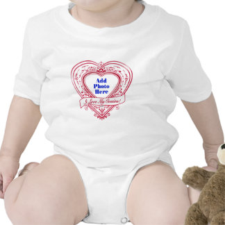 I Love My Cousins! Photo Red Hearts Baby Bodysuit