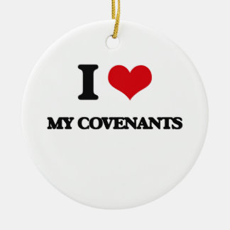 I love My Covenants Double-Sided Ceramic Round Christmas Ornament