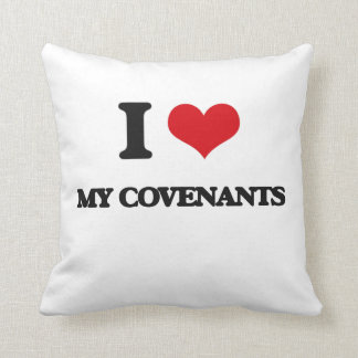 I love My Covenants Throw Pillows