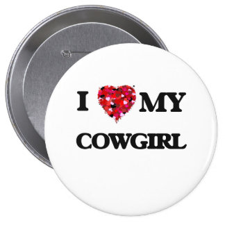 I love my Cowgirl Pinback Button
