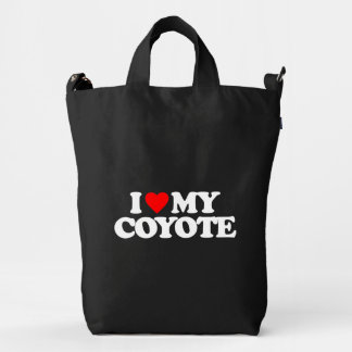 I LOVE MY COYOTE DUCK BAG