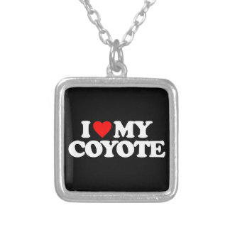 I LOVE MY COYOTE PERSONALIZED NECKLACE