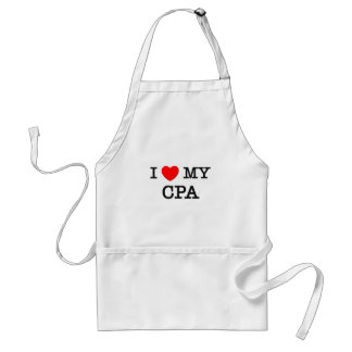 I Love My CPA Adult Apron