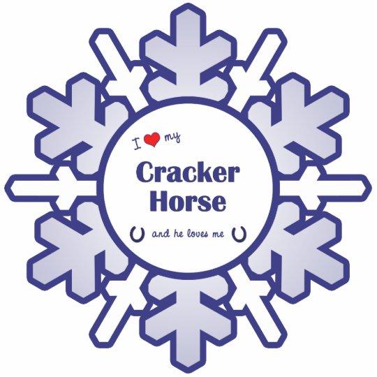 I Love My Cracker Horse (Male Horse) Cutout